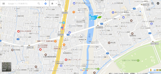昭和橋(北)の土手   川と戯れる階段