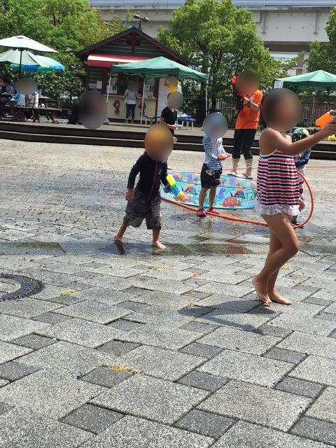 サイクルパーク イベント 水鉄砲