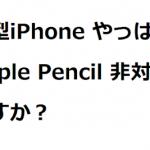 新型iPhone やっぱり Apple Pencil 非対応ですか?